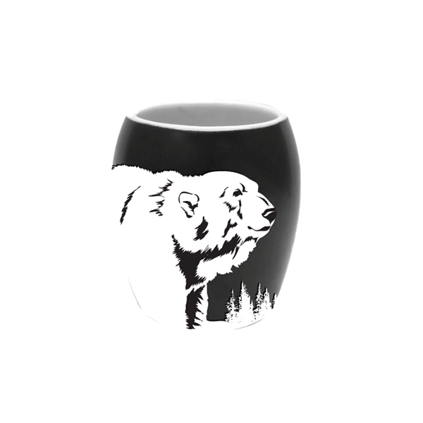 ETCHED POLAR BEAR SHOT GLASS
