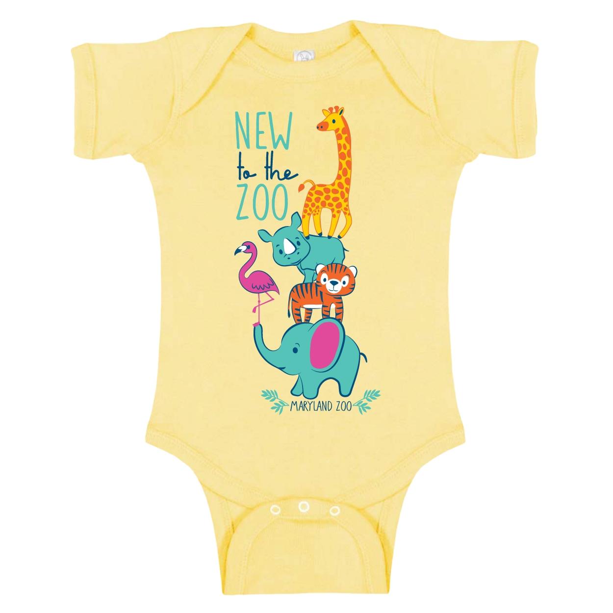 INFANT ONESIE NEW TO ZOO-BANANA