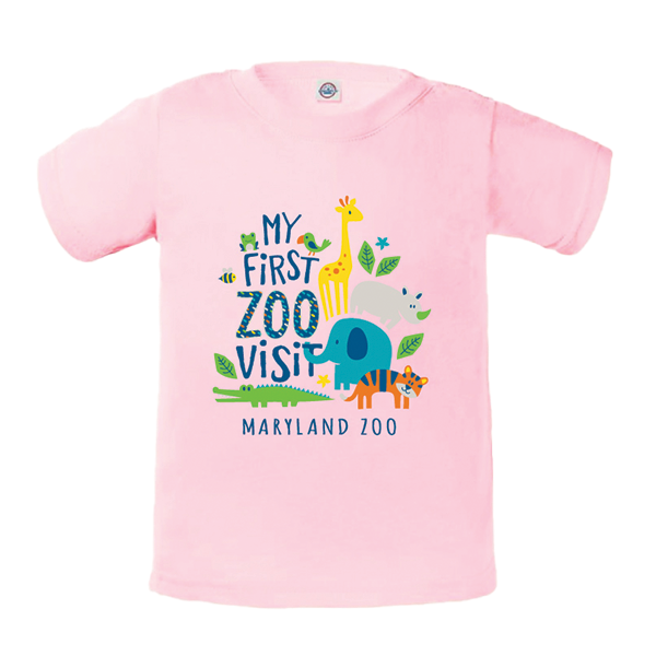 INFANT MY FIRST VISIT TEE-LT PINK
