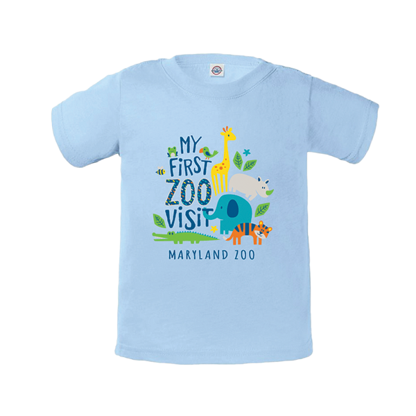 INFANT MY FIRST VISIT TEE-LT BLUE