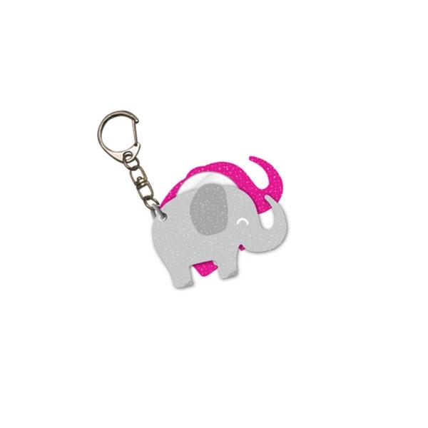 CUTESY ELEPHANT MIRROR KEY CHAIN