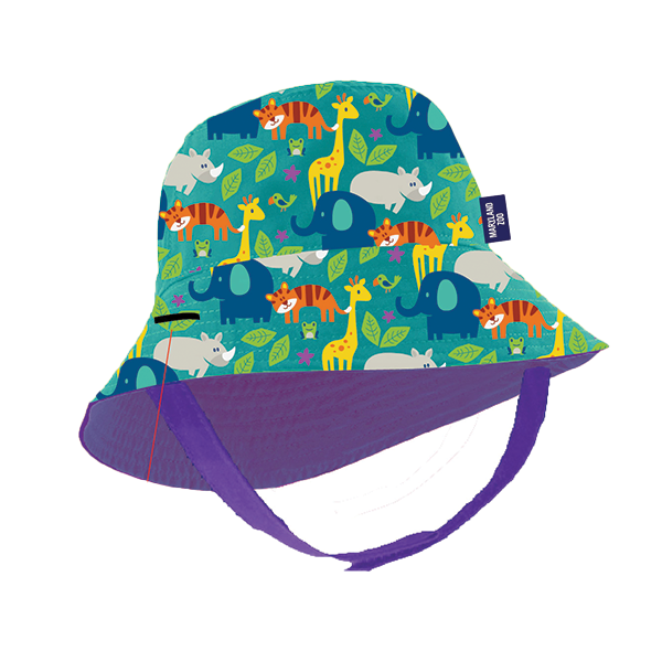 TODDLER ALL OVER PRINT BUCKET HAT-PURPLE