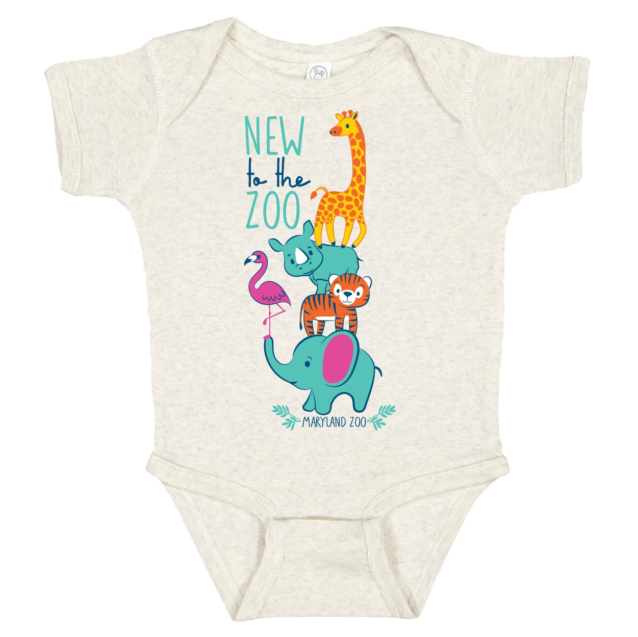 INFANT ONSIE NEW TO THE ZOO-NATURAL