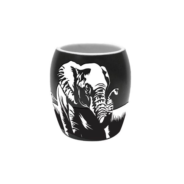 ETCHED ELEPHANT SHOT GLASS