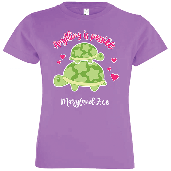 YOUTH CUTESY TURTLE ANYTHING IS POSSIBLE TEE